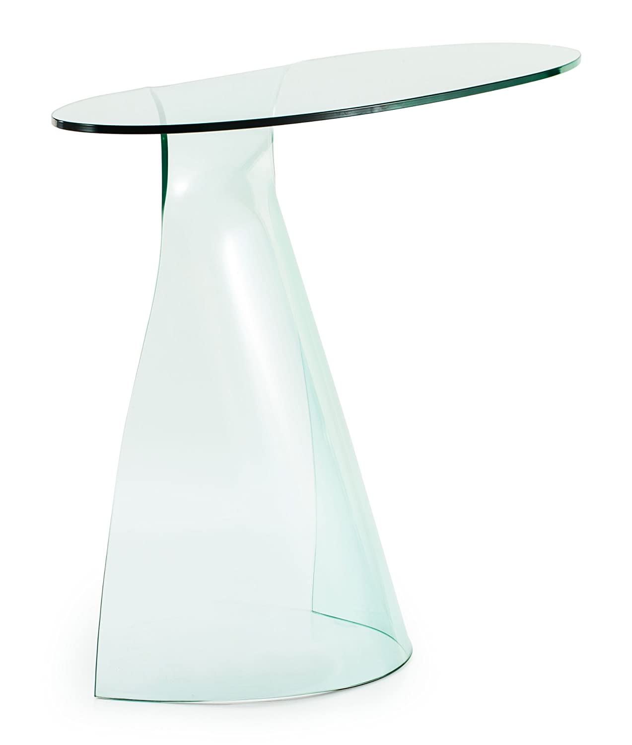 Amazoncom Zuo Modern Quest Console Table Clear Glass Small