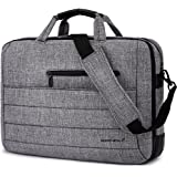 BRINCH New Style 17.3 Inch Nylon Shockproof Carry Laptop Case Messenger Bag For 17 - 17.3 Inch Laptop / Notebook / MacBook /Ultrabook/Chromebook with Shoulder Strap Handles and Various Pockets (Grey)