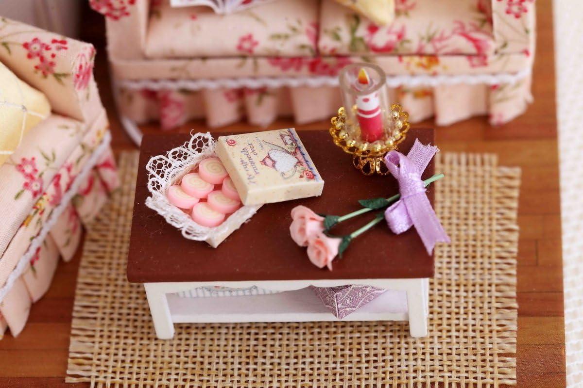 DIY Miniature Dollhouse Kit with Furniture Handmade Dolls House Miniature Kit Plus Dust Proof and LED Lights,1:24 Scale Creative Room Idea