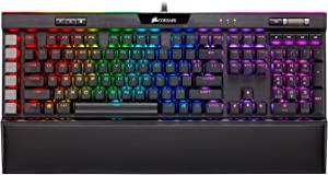 Corsair K95 RGB Platinum XT Mechanical Gaming Keyboard, Backlit RGB LED, Cherry MX RGB Blue, Black