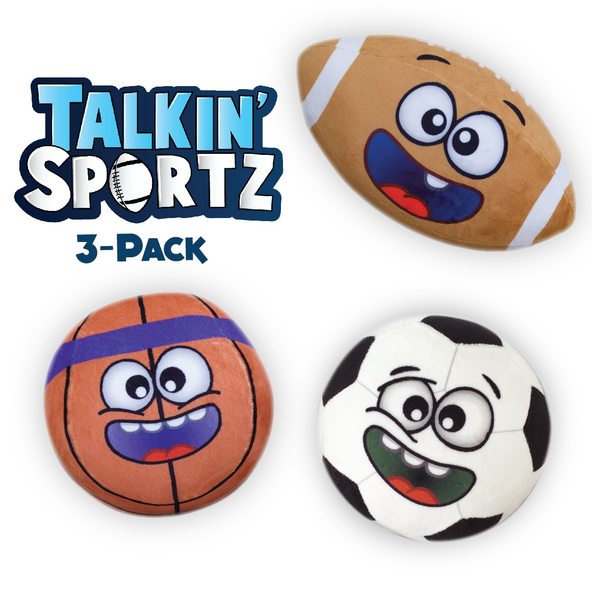 Talkin' Sports Hilariously Interactive Toy Soccer Ball with Music and Sound FX For Kids and Toddlers By Move2Play TS104