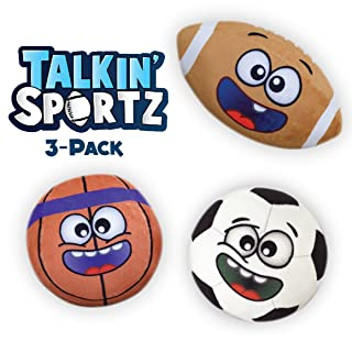 Talkin' Sports Hilariously Interactive Toy Sports Balls with Music and Sound FX for Kids and Toddlers by Move2Play