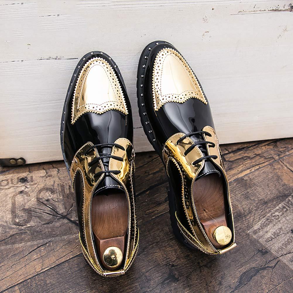 Herren Schuhe New Fashion Hairstylist & Flut Schuhe Temperament Hochzeit/Party & Hairstylist Abend Leder Retro Pedal Faule Schuhe Gold 4cb8f0