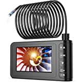 Industrial Endoscope 33FT, SKYBASIC 1080P HD 8mm Digital Borescope Camera Waterproof 4.3 Inch LCD Screen Snake Camera Video I