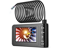 """Industrial Endoscope 33FT, SKYBASIC Borescope Sewer Camera IP67 Waterproof 4.3"""" LCD Screen HD Snake Camera Video Inspection C"""