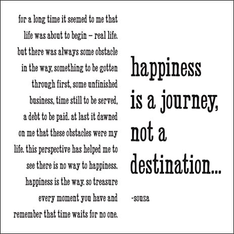 Amazon quotable souza happiness is a journey cards quotable souza happiness is a journey cards quotes greetings occasions card m4hsunfo