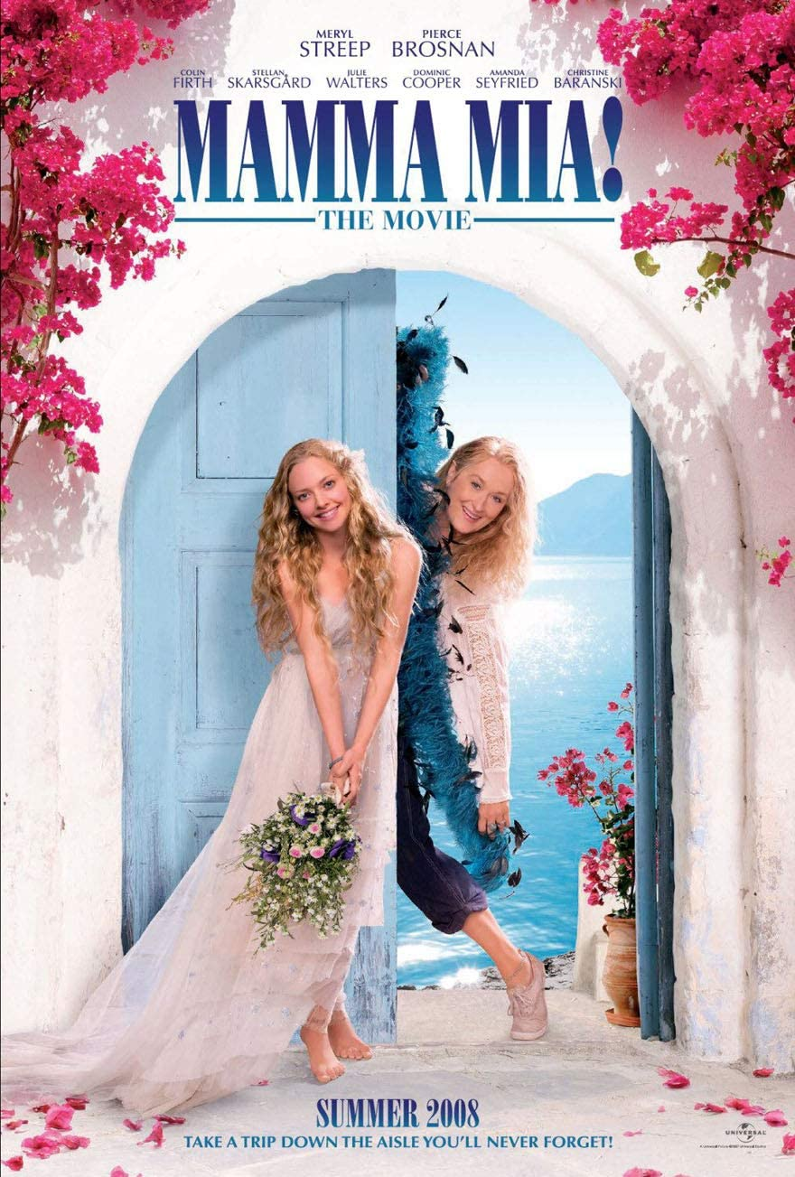 """Mamma Mia!"" movie poster, one of our favorite movies that explores female relationships!"