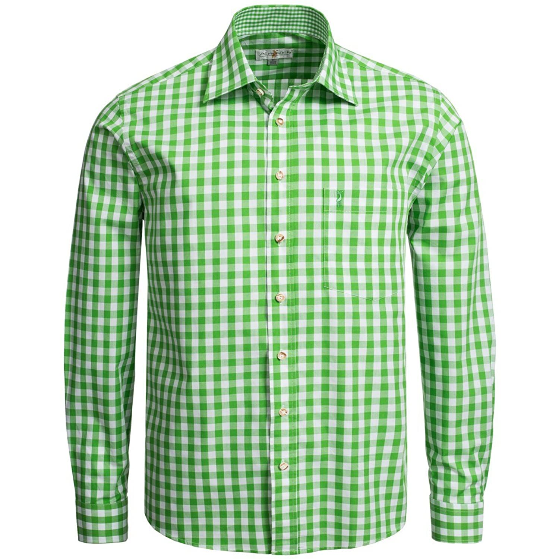 Trachtenhemd Regular Fit in Hellgrün von Almsach