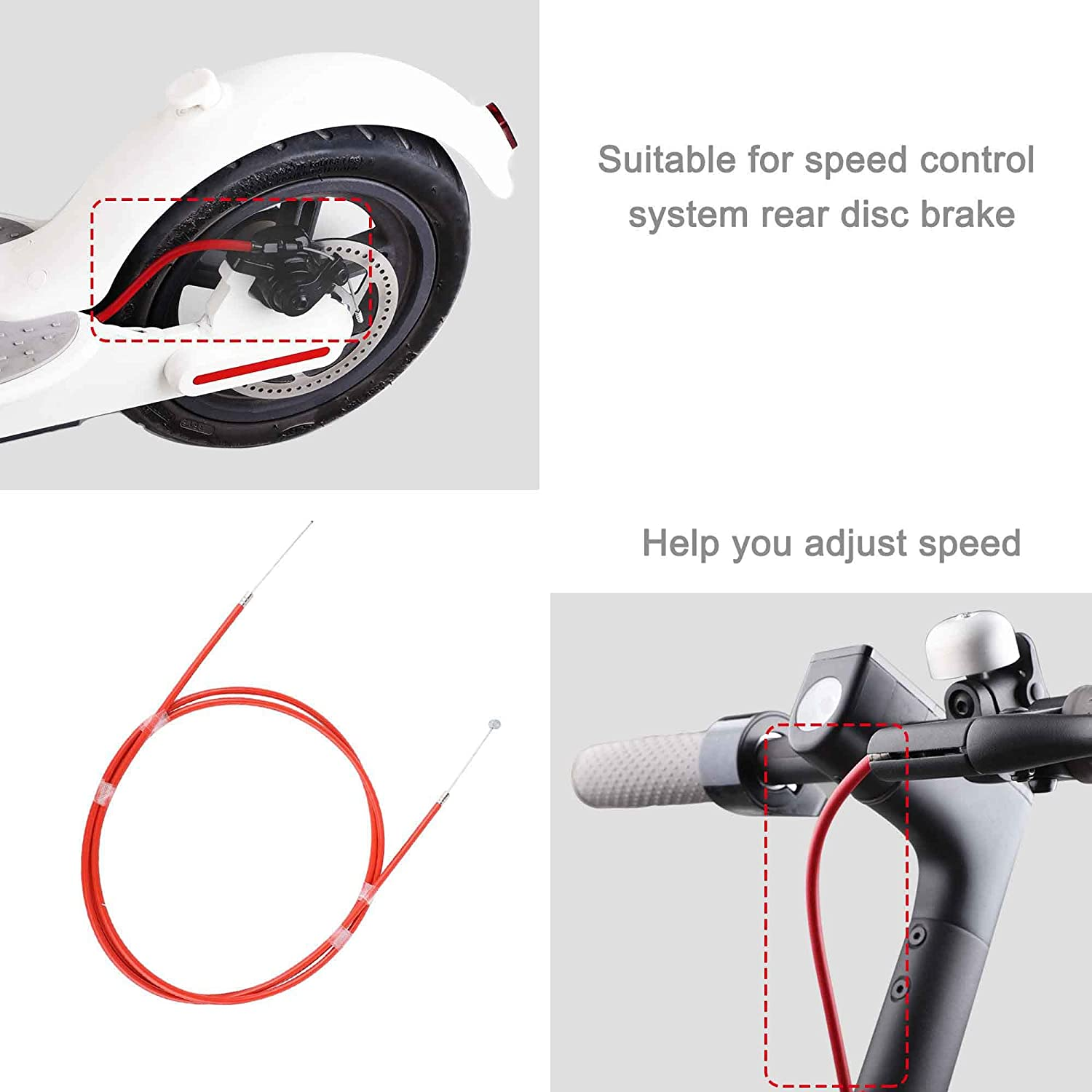 Brake Line Electric Scooter Accessories Repair Cable Rear Disc for xiaomi M365