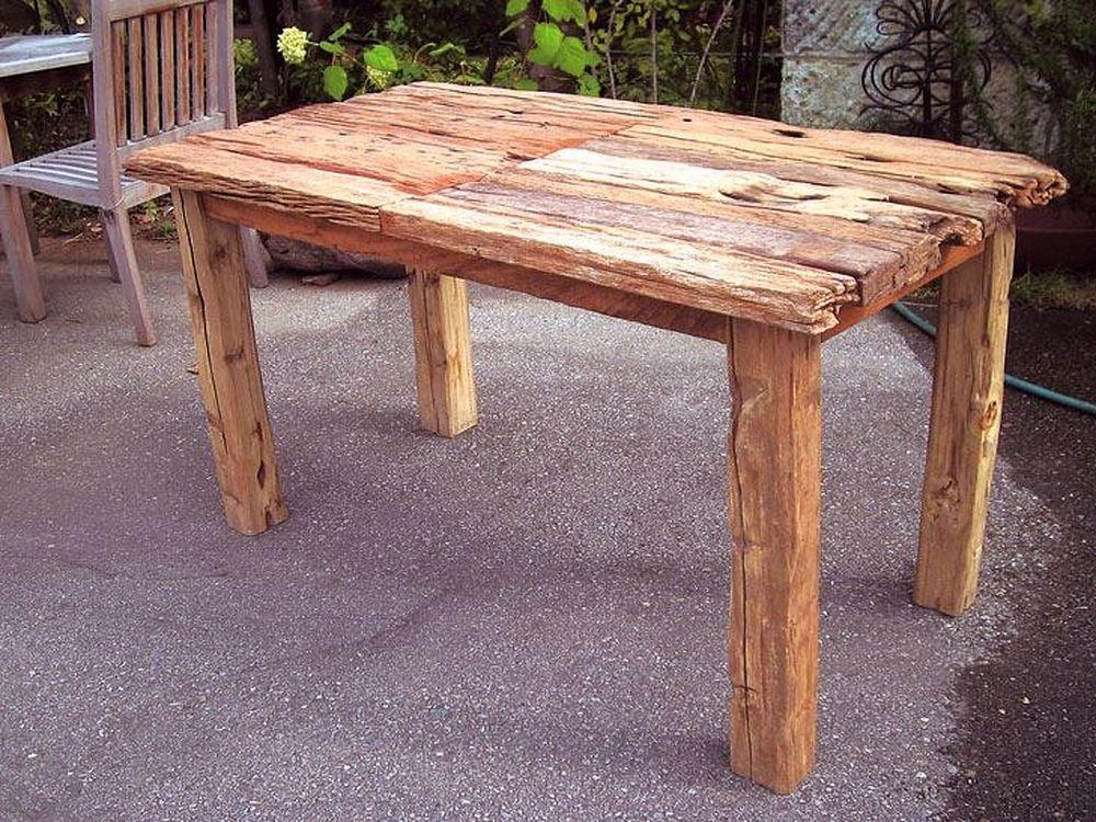 ジャービス商事 天然木無垢材 ガーデンテーブル 流木テーブル 35251 テーブルのみ B009LF05JG