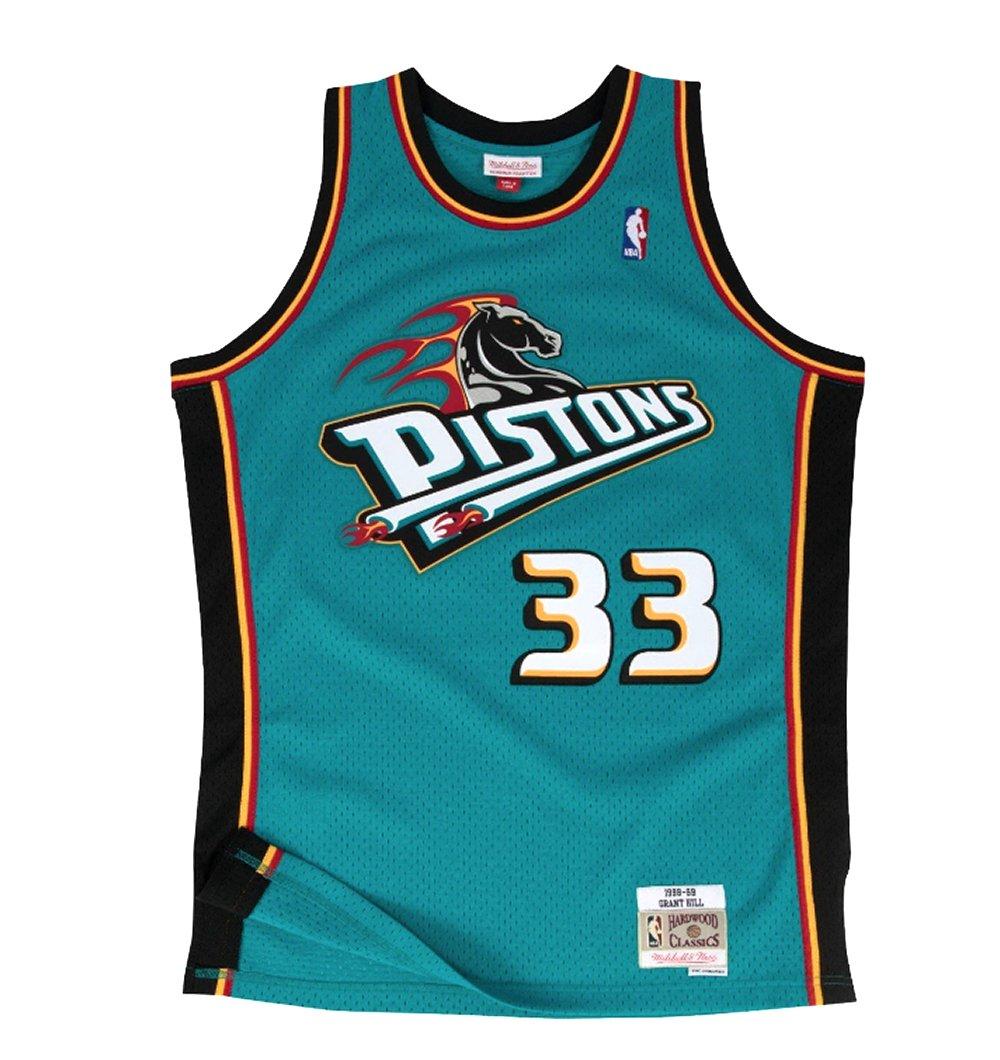 new products ae3a1 bdbf1 Amazon.com : Mitchell & Ness Grant Hill Detroit Pistons NBA ...