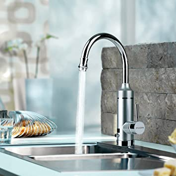 pudinla puissance instantane robinet rglable 220v lectriques sous leau chaude avec conduit - Robinet Eau Bouillante Instantanee