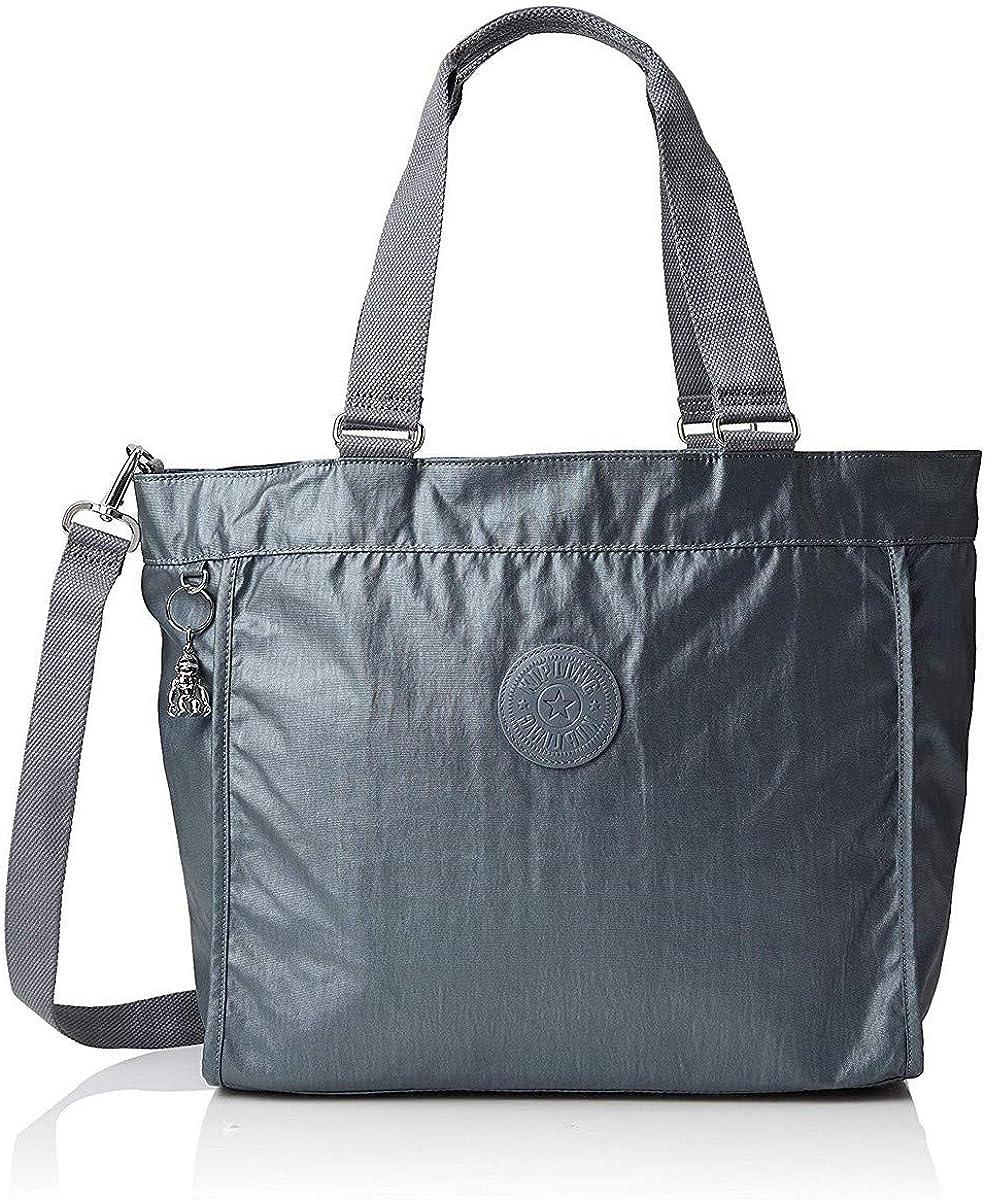 Kipling New L, Bolso Shopper para Mujer, marrón, 48.5x34x17.5 centimeters (B x H x T) Gris (Steel Gr Metal)