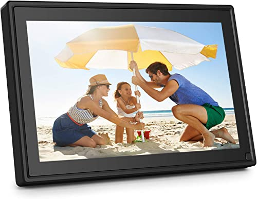 AiJoy 10 Inch Digital Picture Frame with WiFi, 16GB Photo Frame with Touch Screen, HD 1280×800 IPS, Smart Share Photo via Email, APP, Facebook, Twitter, Support 1080P Video Music, USB, SD Card