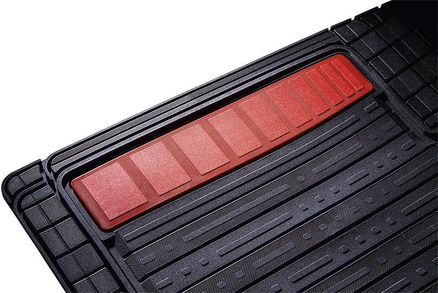 Auto Fu/ßmatten Set Ohne Mattenhalter TPE Gummimatte Schwarz Farbiger Einsatz in Gambia Rot CarFashion 266276 Silverstone Allwettermatte AB1
