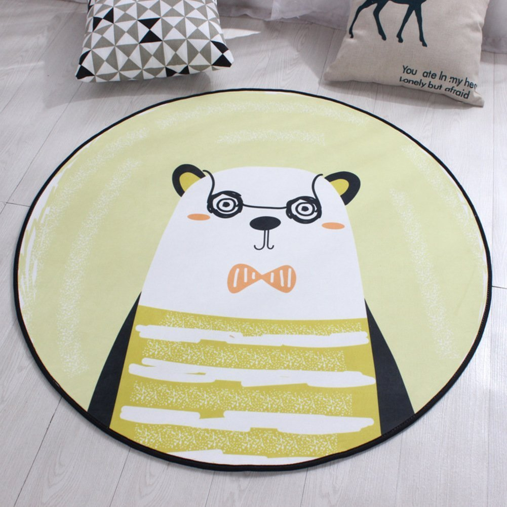 DIDIDD round Carpet Mats Cushions Cushions Baby Pad Children Can Be Washed Diametro,G,Diameter160Cm(63Inch)