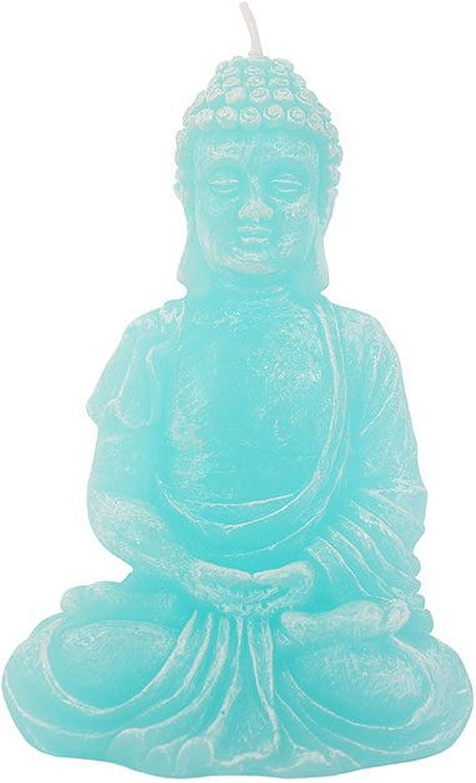 Something Different Candela Turchese a Forma di Buddha Blu Taglia Unica
