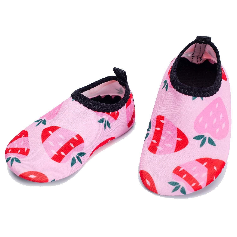 Kids Swim Water Shoes Boys Girls Toddler Barefoot Cotton Sock Shoes for Beach Pool Surfing Yoga Swimming Walking Cartoon Animal