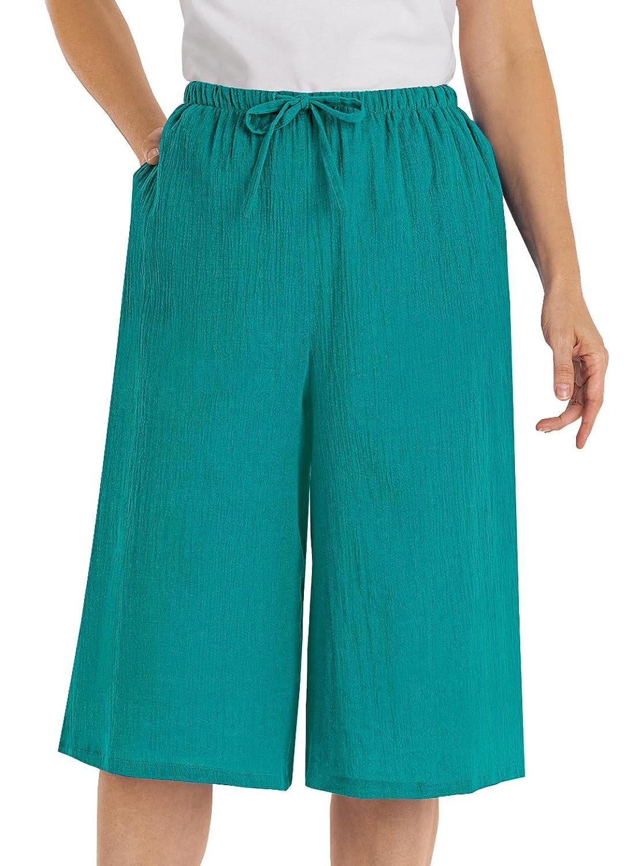 100% Crinkle Cotton Culottes