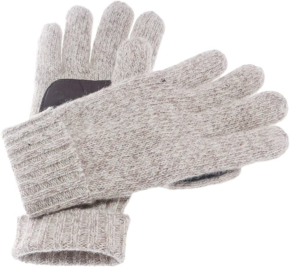 Men Winter Knitted Wool Windproof Gloves Warm Full Finger Skiing Cycling Gloves