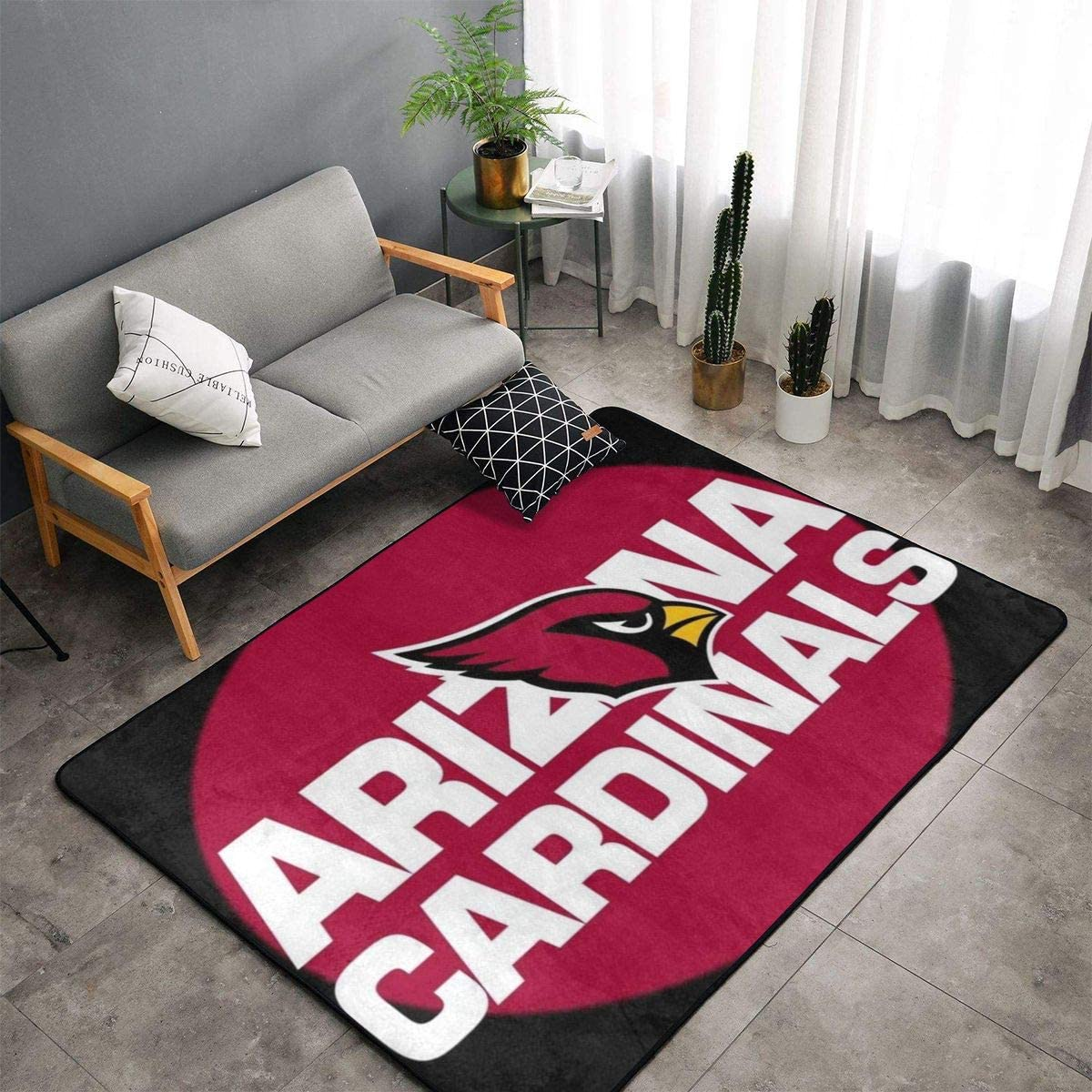 MOOPZEEA Arizona-Cardinals Ultra Soft Carpet Indoor Fluffy Area Rugs Dining Room Home Carpets Suitable