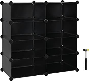 Songmics ULPC24H 8-Cube Plastic Shoe Rack
