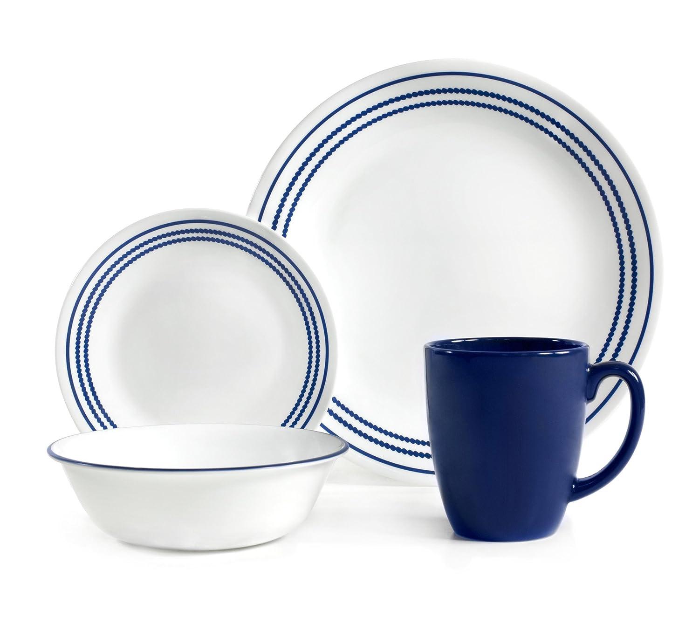 corelle vitrelle glass jett chip and break resistant dinner set set rh pitypangiskola hu