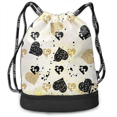 Amazon.com: Mochila con cordón de aro floral con bolsillo ...
