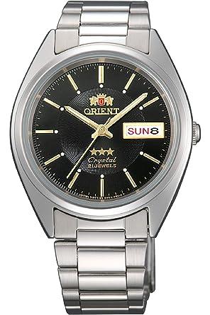 Orient Reloj Analógico para Hombre de Automático con Correa en Acero Inoxidable FAB00006B9: Amazon.es: Relojes