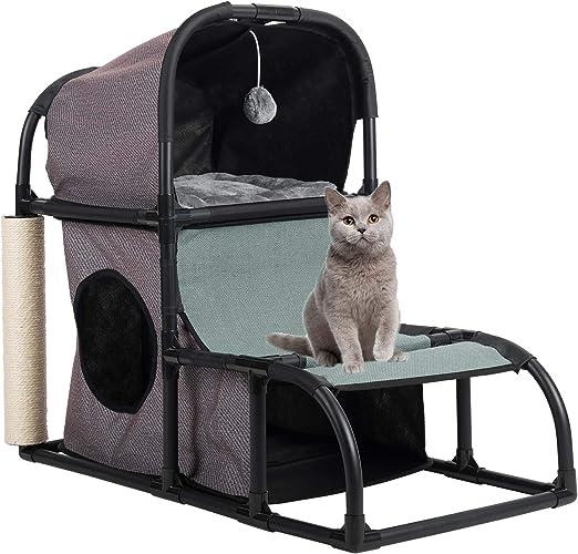 Gemeinsa Casa para Gatos Condominio Gatito Poste de Rascado Marco ...