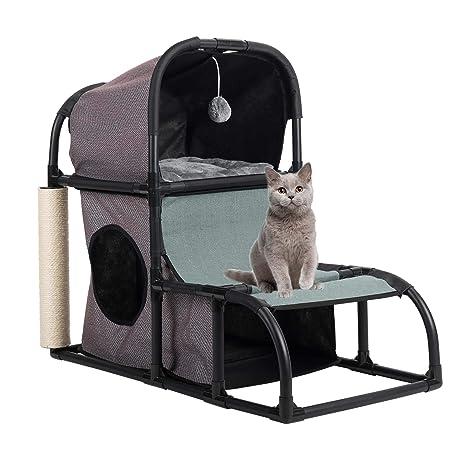 Gemeinsa Casa para Gatos Condominio Gatito Poste de Rascado Marco de Escalada/Juguete/ Cama
