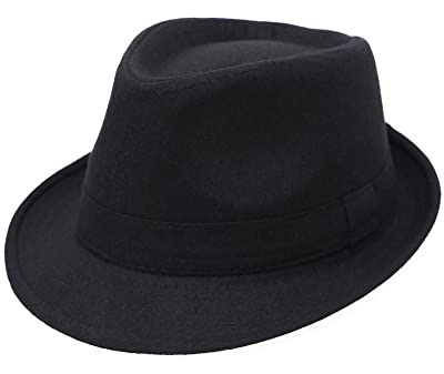 d0ee328998ec3 Men s Classic Manhattan Structured Gangster Trilby Fedora Hat