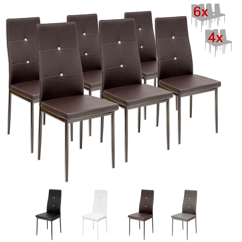 Albatros Diamond Set de sillas de comedor marrón SGS tested