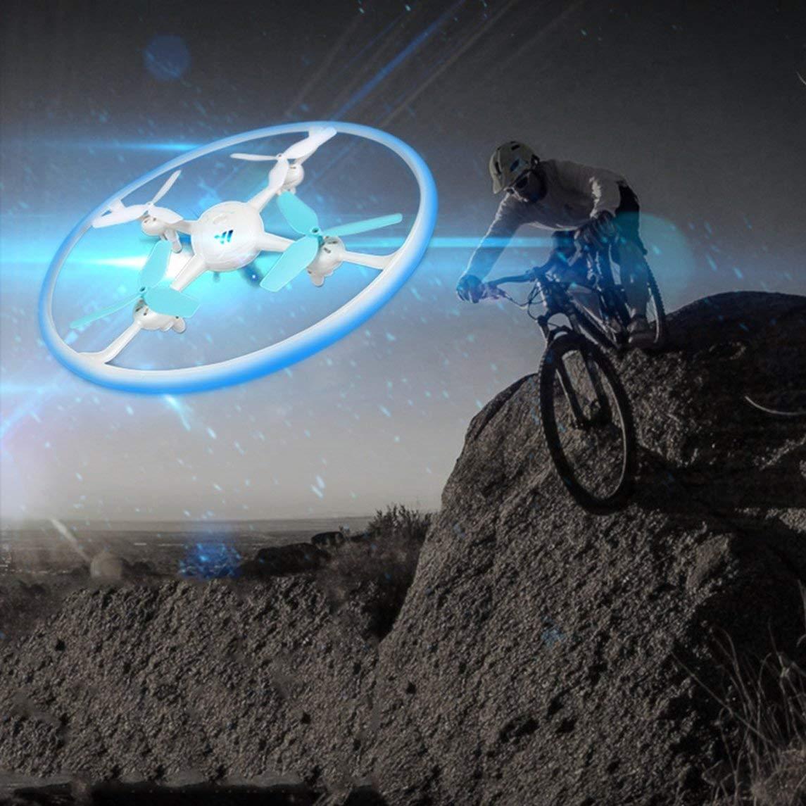 Footprintse Yade W3 Beleuchtung Vier-Achsen-UAV setzen hohen Standard ohne Kamera-Farbe:Blau