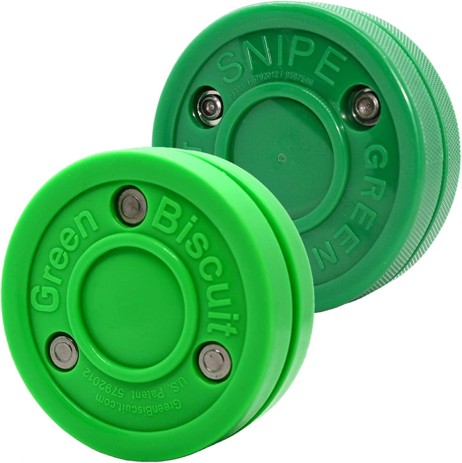Green Biscuit Snipe Hockey Shooting// Passing Training Puck Street Stick Handling