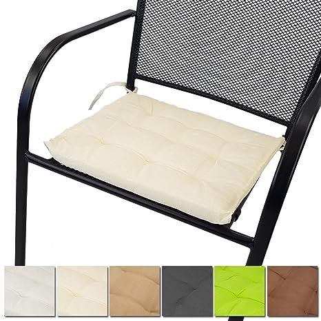 PROHEIM Cojín para sillas Niza 40 x 40 cm - Cojín Suave de ...