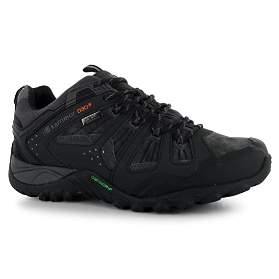 Mens Arete Walking Shoes Dynagrip Sole Hiking Outdoor Lace Up Footwear Black 7 (41)