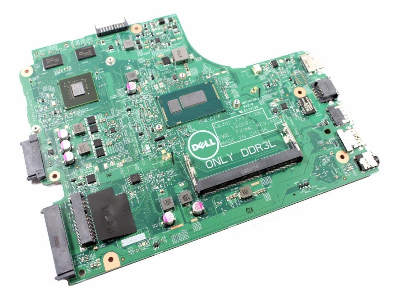 Dell Inspiron 15-3542 Intel Pentium 3558U 1.70 GHz DDR3 SDRAM 1 Memory Slot HD Graphics 2 USB Ports Motherboard N4C2G FX3MC P34KX 0P34KX 0N4C2G CN-0N4C2G