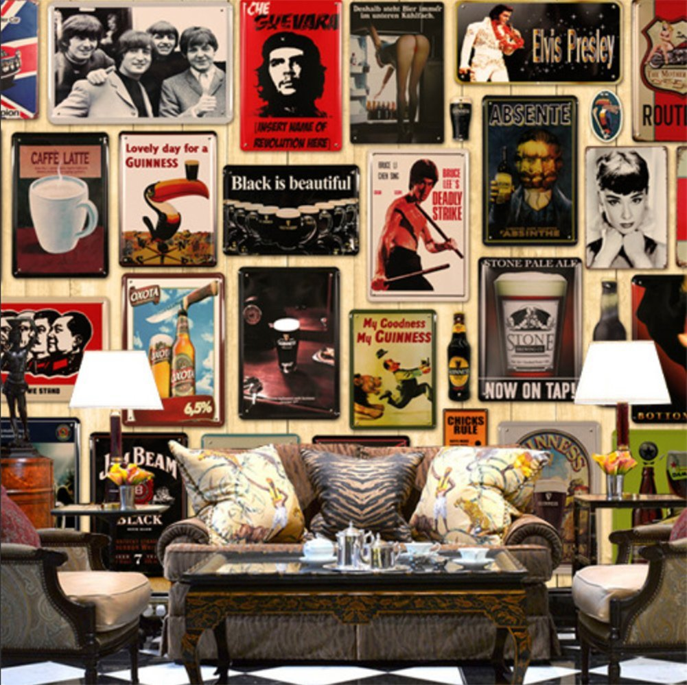 Chytaii.Placa de Arte Mural Motocicleta Se/ñal de Retro Poster Caliente Metal Sign Retro de Oficina en casa Bar Tienda de caf/é Lata Crafts