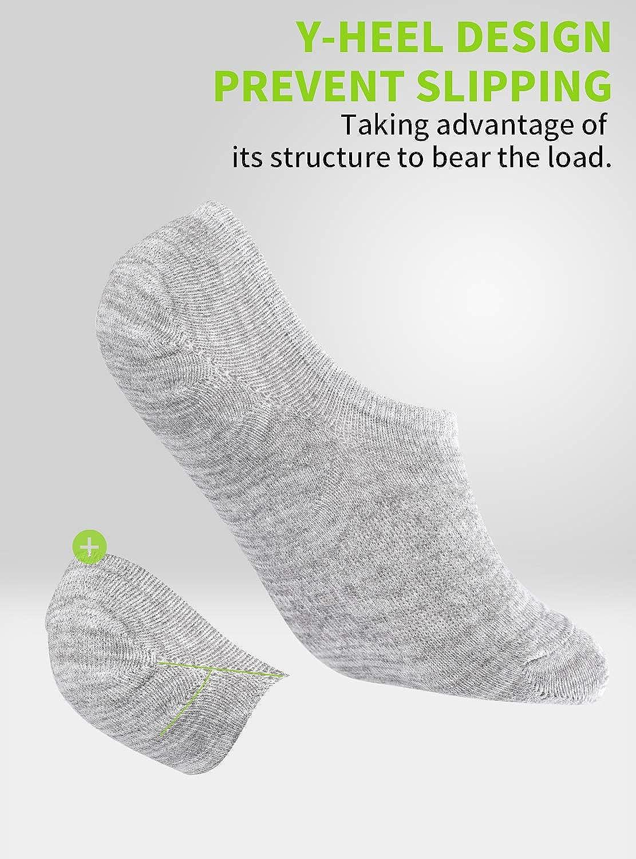 TRENDOUX 6 Pares de Calcetines Tobilleros Hombre Mujer Invisibles Pinkies Calcetines Cortos de Algod/ón Respirable Antideslizantes Running Ciclismo Deporte