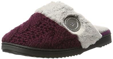 Cuff Dearfoams Cable Pantofole Scuff Closed Donna WPlush Knit Toe 1ar1YA