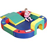 Children's Factory Playring with Tunnel & Slide Foam Mat, Indoor Play Equipment for Kids/Baby/Infant Floor, for Daycare…