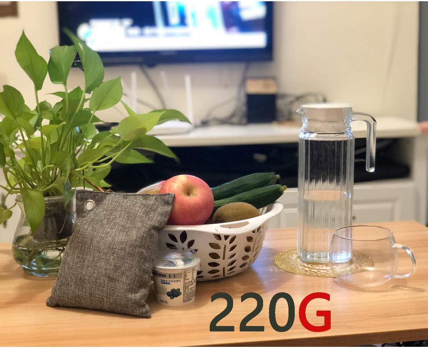 4X220 G Activated Bamboo Charcoal Natural Eco Friendly for Home 2X100 G DTXDTech Bamboo Charcoal Bags 8 Pack 2X500 G Car,Closet,Shoes