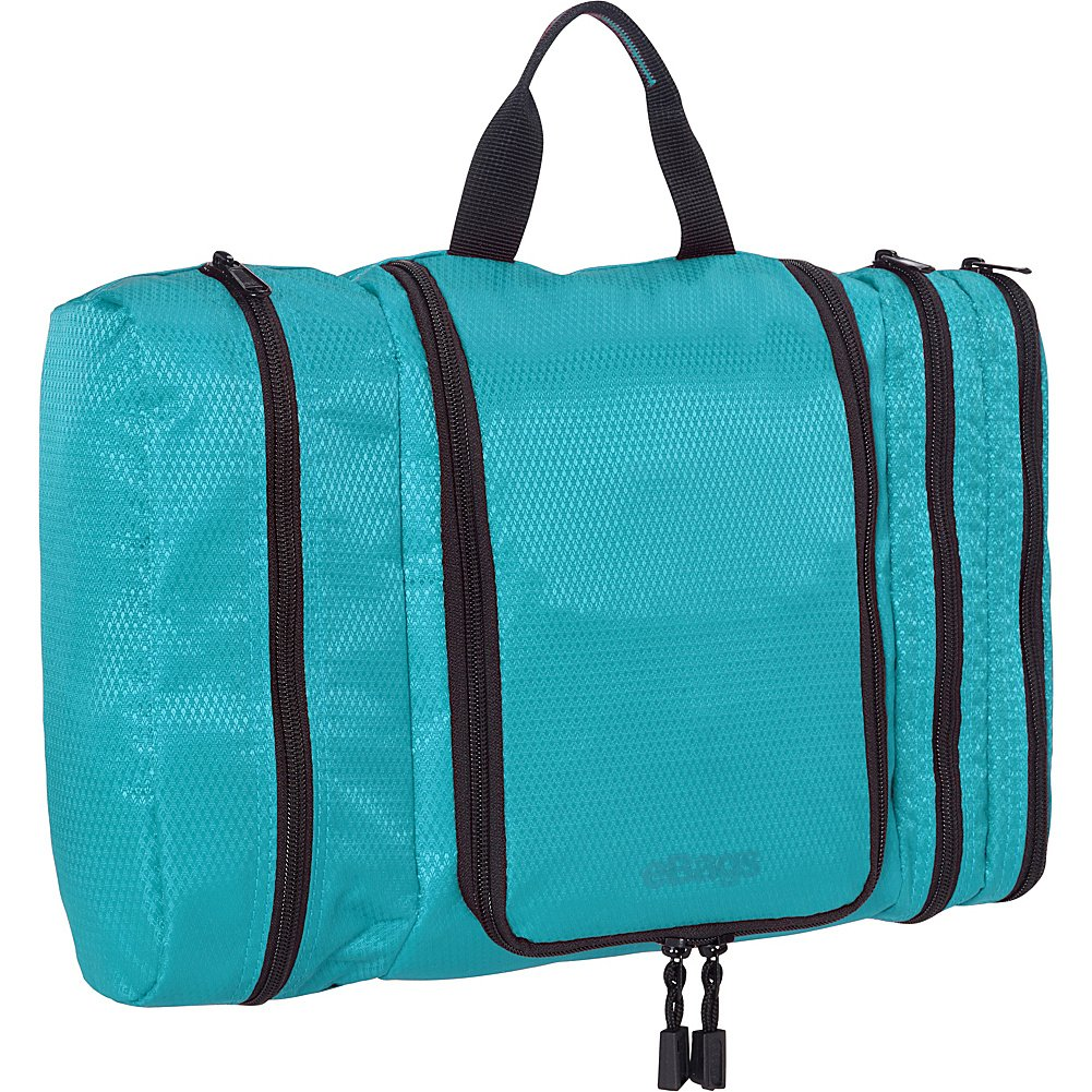 eBags Pack-it-Flat Large Hanging Toiletry Bag and Kit - (Aquamarine) by eBags