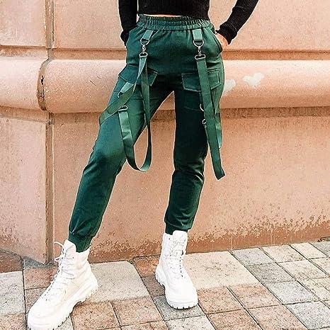 CKBYTH Pantalones Streetwear Pantalones Harem De Algodón Pantalones Cargo Mujer Negro Cintura Alta Pantalones Joggers Coreanos Sueltos Pantalones De Mujer Pantalones De Chándal: Amazon.es: Deportes y aire libre