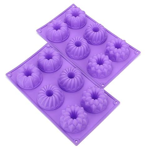 Fancy de silicona Bekith 6 Cavidad Molde Para Tartas, magdalenas tazas, cafetera para tartas