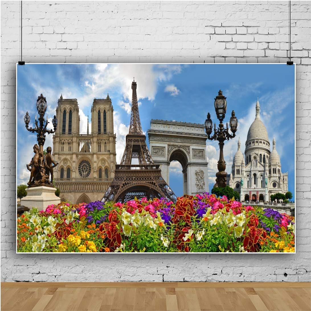 Amazoncom Baocicco 5x4ft Eiffel Tower Notre Dame