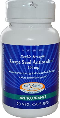 Enzymatic Therapy – Grape Seed-Antio Double Streng, 100 mg, 90 capsules