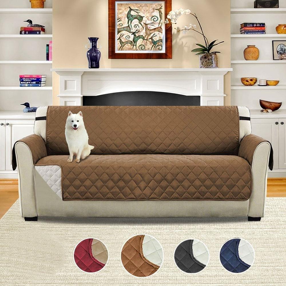 Womdee wendbarer Sofabezug, Schonbezug Möbelschutz für Haustiere, Rutschfest, allergiefrei, maschönenwaschbar, Sofaschutz für Sitz, Sofa, Stuhl, Loveseat und 3-Sitzer Sofa Coffee-l