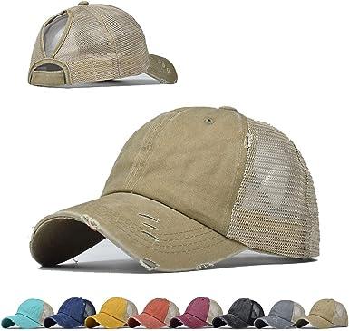 Vintage Ponytail Top Hats for Women Baseball Caps High Messy Bun Hat  Ponycaps Adjustable Baseball Cap Mesh Back Trucker Hat (Beige) at Amazon  Women's Clothing store